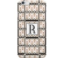1920s Pink Champagne Gatsby Monogram letter R iPhone Case/Skin