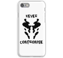 Never Compromise Rorschach Watchmen iPhone Case/Skin