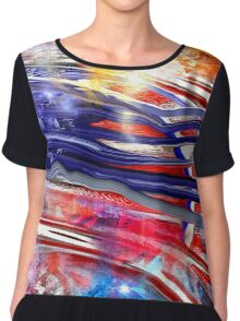 The American Flag Painted Chiffon Top