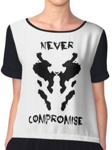 Never Compromise Rorschach Watchmen Chiffon Top