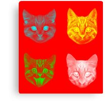 Color Cats Canvas Print