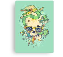 Summer skullin' Canvas Print