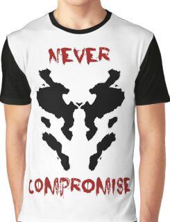 Never Compromise Rorschach Watchmen Graphic T-Shirt