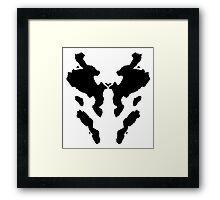 Rorschach Watchmen Framed Print