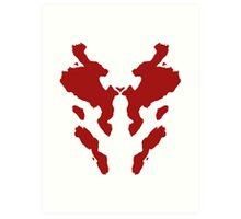 Rorschach Watchmen Art Print