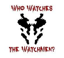 Who watches the watchmen? Rorschach Watchmen Photographic Print