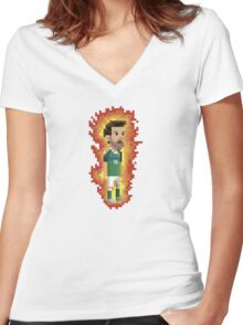 OnFire! Women's Fitted V-Neck T-Shirt