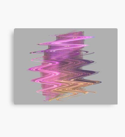 Lavender Pink Waves Canvas Print