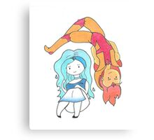 Fire and Water Adventure Time  Canvas Print