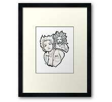 Red and Vee Framed Print