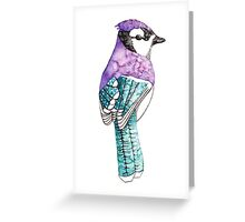 Abstract Watercolour Bird Greeting Card