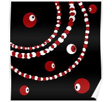 Red, black and white pearls  Poster