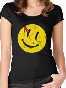 Watchmen Symbol Smile Vintage Women's Fitted Scoop T-Shirt