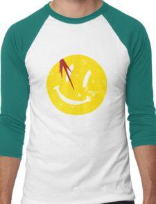 Watchmen Symbol Smile Vintage Men's Baseball ¾ T-Shirt