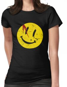 Watchmen Symbol Smile Vintage Womens Fitted T-Shirt