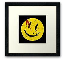Watchmen Symbol Smile Vintage Framed Print