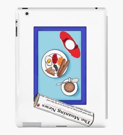 Breakfast at the computer iPad Case/Skin