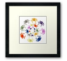 Invasion of the crabs Framed Print