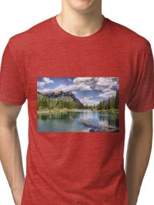 Mount Lorette Ponds, Kananaskis Country Tri-blend T-Shirt