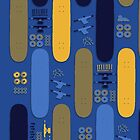 Skateboard Assembly Pattern (BLU) by BGWdesigns
