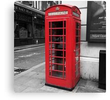 """Telephone"" - London Telephone Box Poster/Frame/Print Canvas Print"
