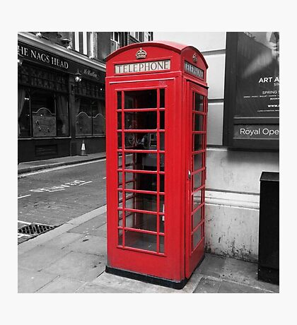 """Telephone"" - London Telephone Box Poster/Frame/Print Photographic Print"