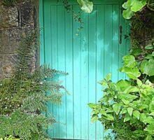 The Turquoise Door Sticker