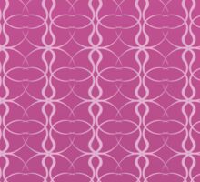 Abstract Pink Style Sticker