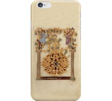 Decorated Initial D - D[eu]s qui Hodierna Die (1000 - 1025 AD) iPhone Case/Skin