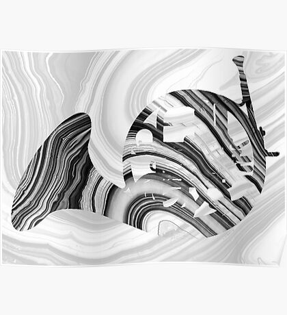 Marbled Music Art - French Horn - Sharon Cummings Poster