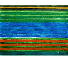 Horizontal Stripes In Red Blue Green Photographic Print