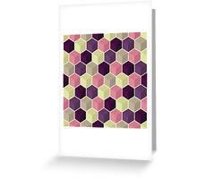 Abstract geometric background Greeting Card