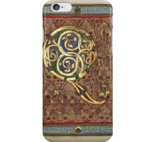 Decorated Incipit Page - Opening of Luke's Gospel (1120 - 1140 AD) iPhone Case/Skin