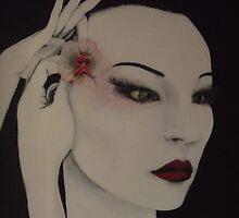 Geisha/maiko-preparing in anticipation  by Ti Campbell-Allen
