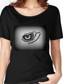 Eagle eye pencil drawing Women's Relaxed Fit T-Shirt