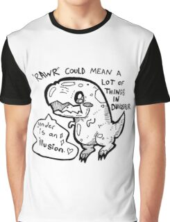 RAWR means lots of things in dinosaur<3 Graphic T-Shirt