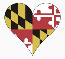 Maryland Flag Heart Shape by canossagraphics