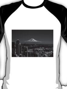Mt Rainier BW  T-Shirt