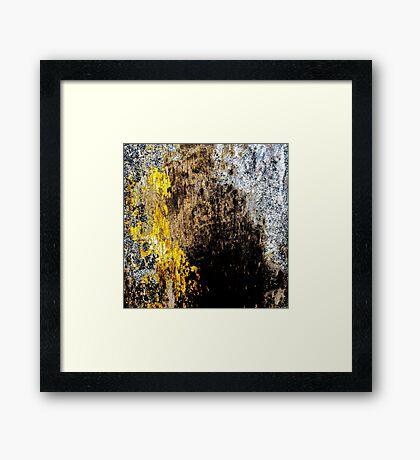 Gold Erosion Framed Print