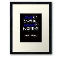 Charles Manson, quote Framed Print