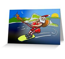 Father Xmas with Gibraltar theme Greeting Card