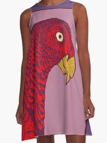 The Red Bird A-Line Dress