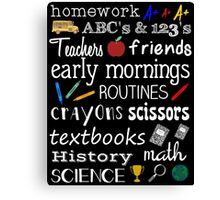 School Days Canvas Print