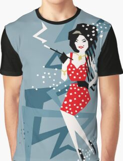 Cartoon Amy Graphic T-Shirt