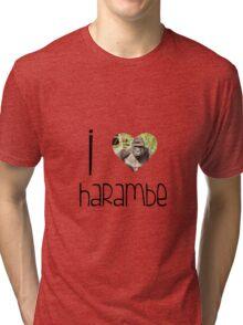 I Love Harambe Tri-blend T-Shirt