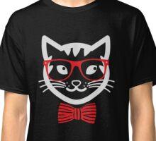 Hipster Nerd Cat - Humor Funny T Shirt Classic T-Shirt