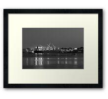 Providence Harbor I BW Framed Print