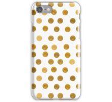 gold dots iPhone Case/Skin