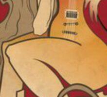 GIBSON LES PAUL WOMAN VINTAGE RETRO Sticker