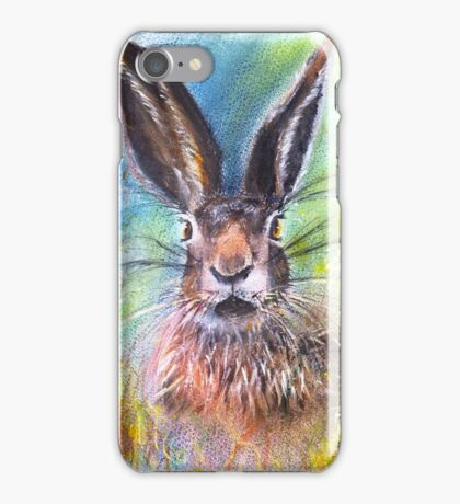 Hare in the Grass iPhone Case/Skin